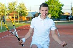 Jogando o tênis Imagens de Stock Royalty Free