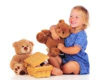 Jogando o urso da peluche Fotografia de Stock