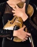 Jogando o violino imagem de stock royalty free
