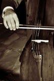 Jogando o violoncelo Fotografia de Stock