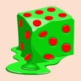 Jogando os derretimentos do cubo Fotos de Stock Royalty Free