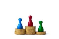 Jogando penhores no branco Imagem de Stock