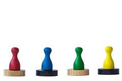 Jogando penhores no branco Fotos de Stock