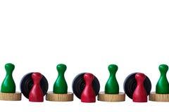 Jogando penhores no branco Foto de Stock Royalty Free