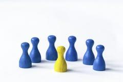 Jogando penhores no branco Imagens de Stock