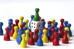 Jogando penhores no branco Imagens de Stock Royalty Free