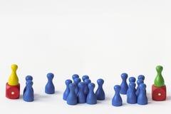 Jogando penhores no branco Fotografia de Stock Royalty Free