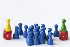 Jogando penhores no branco Fotografia de Stock