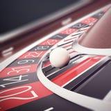 Jogando a roleta do casino, casino que joga, roda da fortuna do conceito ilustração 3D ilustração do vetor