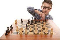 Jogando um jogo de xadrez Foto de Stock Royalty Free