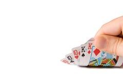 Jogando uma casa cheia Imagens de Stock