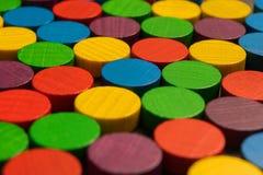 Jogando verificações coloridos Fotografia de Stock Royalty Free