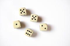 Jogar corta isolado no fundo branco Foto de Stock Royalty Free