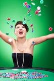Jogar lasca dentro o ar Imagens de Stock Royalty Free