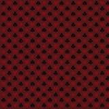 Jogar, pôquer, vinte-e-um carda o vermelho sem emenda do teste padrão do símbolo ilustração stock