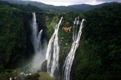 Jogga nedgångar eller Gerosoppa nedgångar i den Karnataka staten av Indien Royaltyfri Fotografi