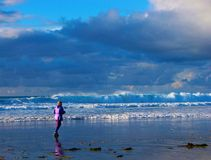 Jogger θαλασσίως στοκ εικόνες