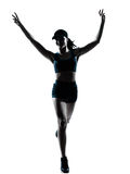 jogger νικηφορόρη γυναίκα δρομέων στοκ φωτογραφίες με δικαίωμα ελεύθερης χρήσης