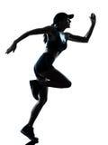 Jogger бегунка женщины стоковое изображение rf