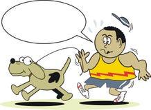 jogger собаки шаржа бесплатная иллюстрация