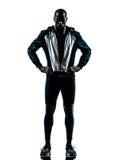 Jogger спринтера бегуна человека представляя силуэт Стоковые Фотографии RF