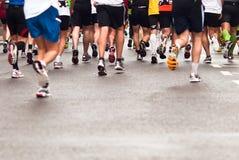 Jogger. Marathons, jogging on the street Royalty Free Stock Photography