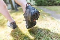 Jogger biega outdoors obraz stock