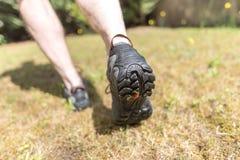 Jogger biega outdoors fotografia stock