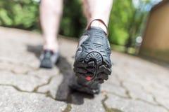 Jogger biega outdoors zdjęcie royalty free