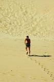 Jogger in desert