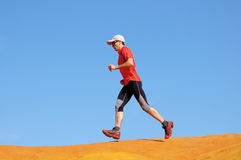 Jogger-dunes Royalty Free Stock Photos