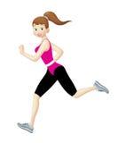 Jogger Girl stock illustration