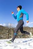 Jogger i sundown Fotografering för Bildbyråer