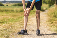 Jogger injured Stock Images