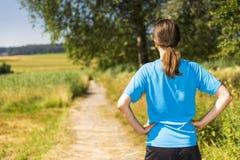 Jogger outdoors w lecie obrazy royalty free