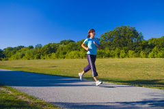 Jogger in park Royalty Free Stock Image