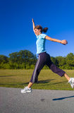 Jogger in park Royalty Free Stock Photography