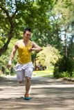 Jogger in the park Royalty Free Stock Image
