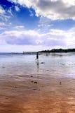 jogger plażowy ranek zdjęcie stock