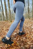 Jogger's feet closeup Royalty Free Stock Images