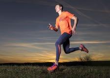 Jogger in sundown Stock Image