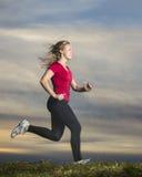 Jogger in sundown Royalty Free Stock Photography