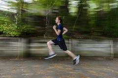 Jogger w drewnach fotografia stock