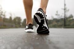 Jogger w sneakers outside obraz stock