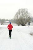 Jogger w zimie zdjęcia royalty free