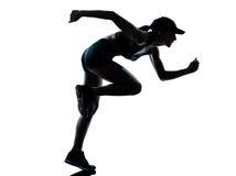 joggerlöparekvinna royaltyfri fotografi