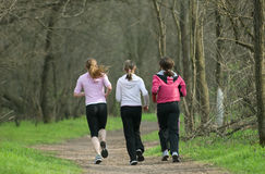joggers τρία Στοκ εικόνες με δικαίωμα ελεύθερης χρήσης