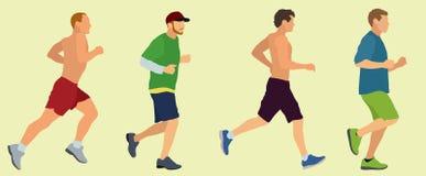 Joggers и бегуны Стоковое Изображение