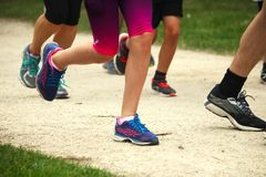 Runners competing in a race Royalty Free Stock Images