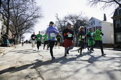 Joggers, South Boston, St. Patrick's Day Road Race, South Boston, Massachusetts, USA Royalty Free Stock Images